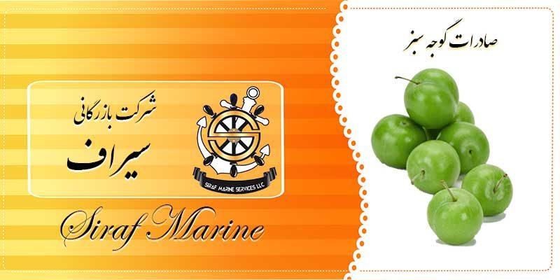 گوجه سبز صادراتی ایران